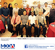 Historical meeting between MDDA & MPDPA office.