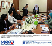 EXCO MDDA meeting with Dental Healthcare Director.